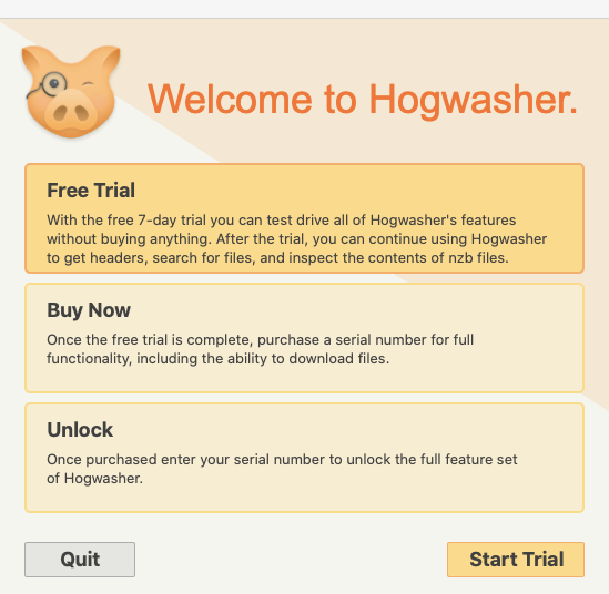 Hogwasher Trial
