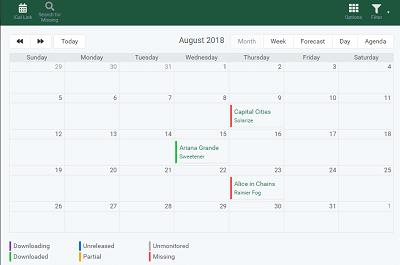 Lidarr Calendar
