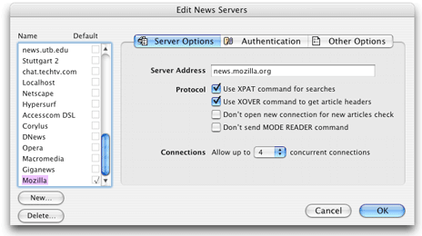 Mt Newswatcher Multiple Servers