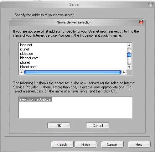 Newsrover Server Selection