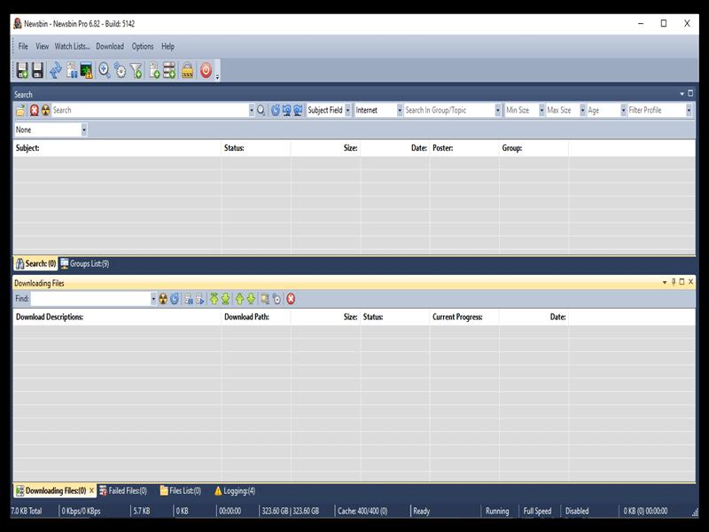Newsbin Newsreader Interface