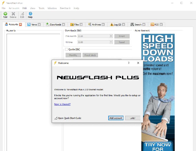 Newsflash Plus Homescreen