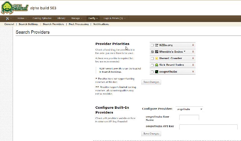 Sickbeard Search Provider