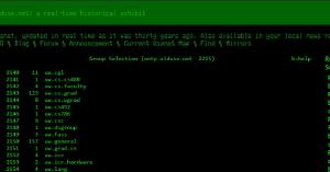 Como a Usenet parecia há 30 anos