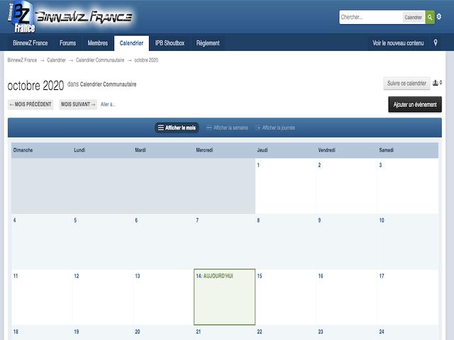 Binnewz Calendar