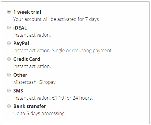 Eweka Payment Methods